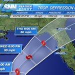 TD Nine predicted to become a Tropical Storm impacting the gulf coast of #FL Thursday. #SRQ #Bradenton #VeniceFL https://t.co/XxpCufL0PT