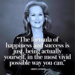 The formula of success and happiness is just being a actually yourself, in the most vivid way possible you can. https://t.co/jODWyX9vIg
