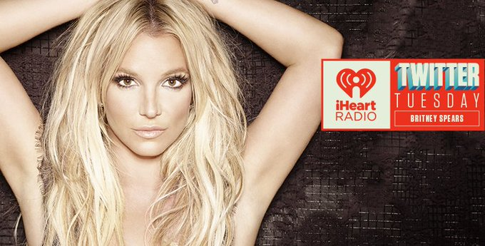 Britney Spears @britneyspears: RT @iHeartRadio: 4:45 PM ET! @britneyspears is about to take over our account! Keep asking questions with #iHeartBritneySpears. https://t.c…