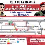 Vamos todas a la Gran Marcha este 31Agos en respaldo a @NicolasMaduro y defensa de la Patria. (Mapa) https://t.co/JsW6r8js6w
