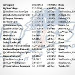 The 2016-2017 Menlo College Wrestling schedule! It features 6 home dates, come support the oaks! #RiseUp #wrestling https://t.co/70OPNuhG75