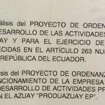 Orden del día para sesión ordinaria #CámaraProvincial. ¡Legislación para impulsar el fomento productivo del Azuay! https://t.co/4l4JtOIha5