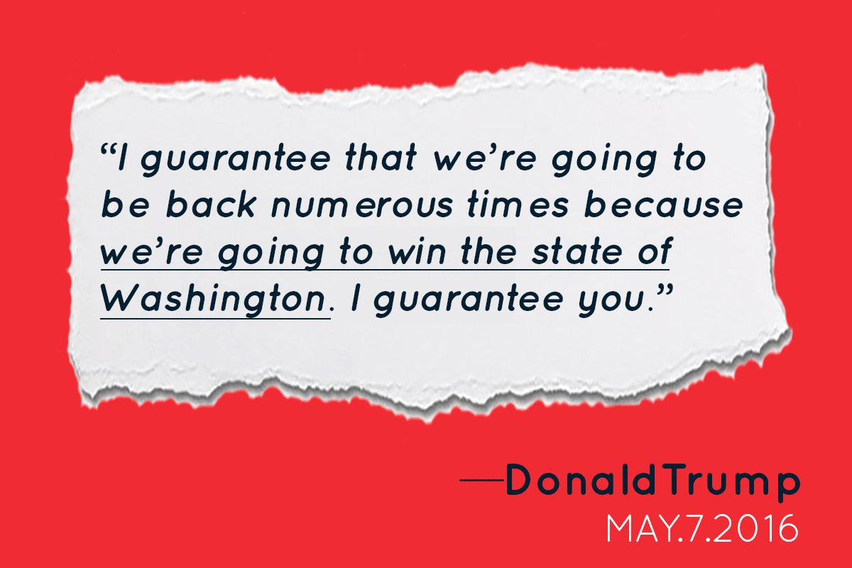 No, @realDonaldTrump, you won't be winning in Washington state this November. #TrumpInEverett https://t.co/KbZnj0EXq0