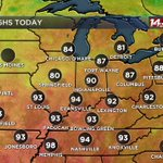 Hottest day of the month at EVV...94 today. #tristatewx https://t.co/bqAXmurz3X