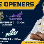 Solid pair of home openers for @UCImsoc this weekend. See you at Anteater Stadium! https://t.co/H8iwqM9Qqm
