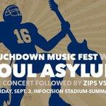 Zips Football Home Opener Saturday vs. VMI. Free Concert Before! Details on https://t.co/wzmSJv8jaP https://t.co/QqTsk8Vg3X