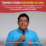 #Agenda Opinión Caribe transmite en vivo la inscripción de la candidatura de @pverasalazar Mañana  desde las 9:00 am https://t.co/6RG0zcjTwH