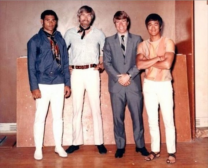 Mike stone, james coburn, chuck norris & bruce lee, 1969 ...