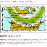PASS IT ON: #NorthernLights may be visible tonight in the northern U.S. along and north of the green line! #Aurora https://t.co/2Og8fgEh61