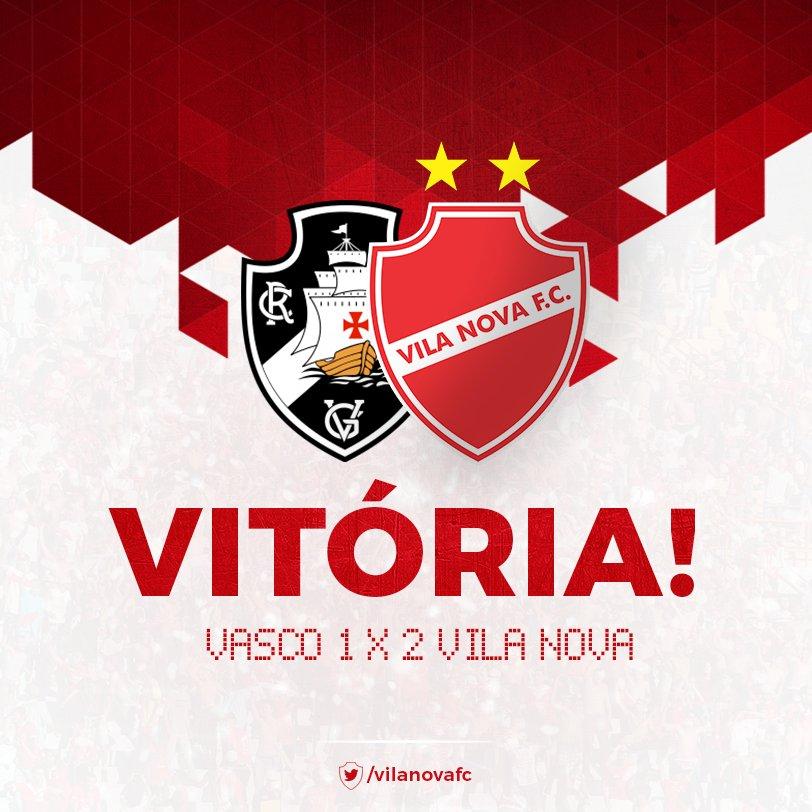 AQUI É VILA! Jogando em São Januário, o Vila Nova venceu o Vasco por 2 a 1. Gols de Magno e Moisés. #VamosTigrão https://t.co/O5nwQH6ybl