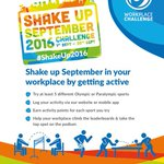THIS SEPTEMBER! 🏊🏽🏀 Take part in #Birminghams #ShakeUp2016 Challenge in the workplace! INFO https://t.co/eZkgR0KA0x https://t.co/fXRQRIs74s