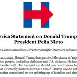 """""""From the first days of his campaign, Donald Trump has painted Mexicans as rapists and criminals."""" https://t.co/kwu8TJynrM"""