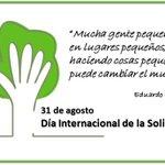Buenos días! #FelizMiercoles.Hoy más que nunca somos #solidarios. #DiaInternacionaldelaSolidaridad #Ayudaresvida https://t.co/tRERL6EGki