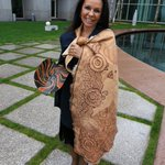 .@LindaBurneyMP explains the cloak that tells her personal story and her totem the goanna @abcnews https://t.co/9mUwnBM06n