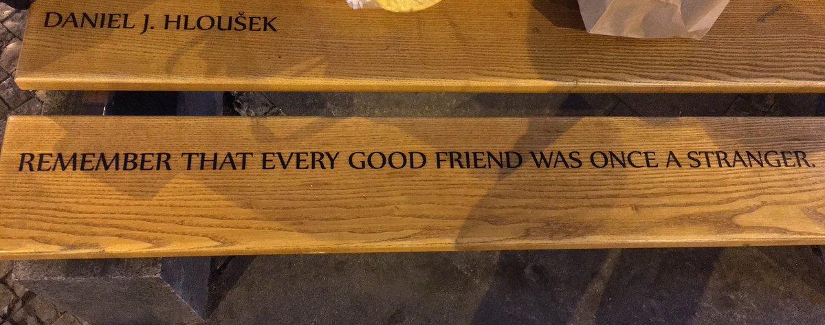 Recuerda que todos los buenos amigos alguna vez fueron extraños. (Daniel J. Hloušek) https://t.co/3Msx02k9WZ
