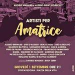 """Ci vediamo domani a Civitavecchia al concerto """"Artisti per Amatrice""""! 💛🇮🇹 https://t.co/8SiIHEiaAe"""