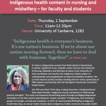 """""""Challenges in teaching Indigenous health content in nursing & midwifery - for faculty & students"""": @LynoreGeia https://t.co/6xqIgcD6ce"""