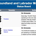Bell Island MV Flanders on non-enhanced schedule today, Fogo ferries on schedule #nltraffic https://t.co/bzN7kebsNr