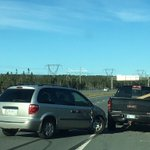 2 vehicle crash ORR WB just past TGHW - right hand lane blocked - no injuries #nltraffic @590VOCM https://t.co/6t9fnUjwz5
