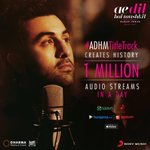 1 million audio streams in 1 day....#AeDilHaiMushkil https://t.co/ID0RPsaqWS