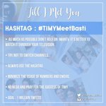 Our hashtag for today. -b #TIMYMeetBasti https://t.co/duyecj5ZBd