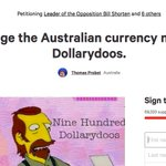 woah.  15k signatures! as a population percentage thats.. oh.. but for an australia petition its pretty.. oh.. https://t.co/5iOuXRzFax