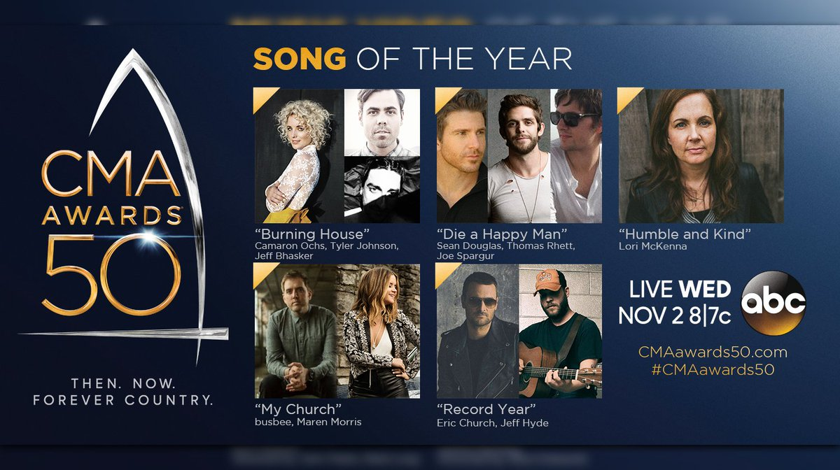 #CMAawards50 Song:   Burning House   Die A Happy Man   Humble And Kind