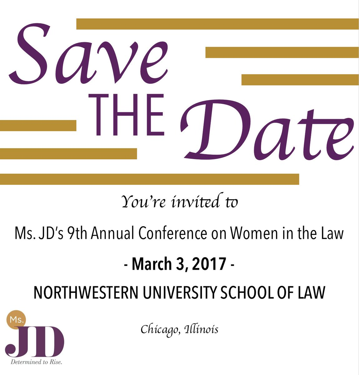 SAVE THE DATE - Ms. JD's Ninth Annual Conference on Women in the Law https://t.co/UL1IEOUYD1 https://t.co/qLuYwtLUEu