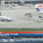 Ready for takeoff: @Jetblue flight has pushed back from gate, headed on historic flight from FLL to Cuba. #KOMOnews https://t.co/OlyDfXqlWl
