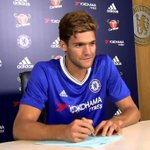 Welcome to @ChelseaFC Marcos Alonso #CFC https://t.co/mpGMsxI5MO