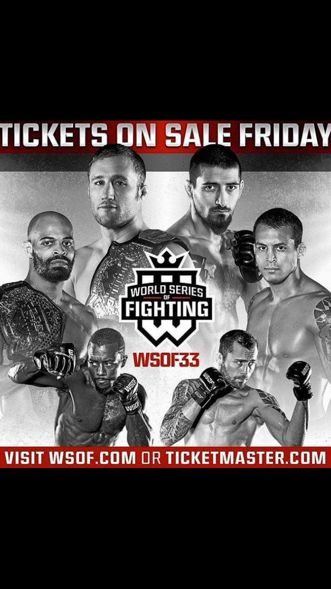 If you're in Kansas City Missouri October 7th get a ticket and come watch these Champions put on a show. #WSOF33 https://t.co/N8lBxRNBUM