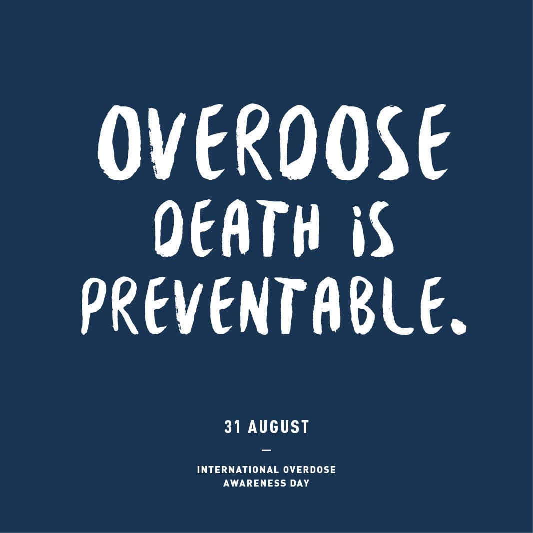 Today, we mark International #OverdoseAwarenessDay and remember loved ones lost to overdose death #OverdoseAware2016 https://t.co/TUI6fpUyz6