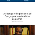 """""""Ali Bongo réélu président du Congo"""" mdrr BFMTV ils respectent jamais rien, je pense cétait pour la rime 😭😂 https://t.co/P13sM61biN"""