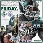 The 2016 Spartan Football season starts Friday! #GoGreen https://t.co/53kU4cuRFt