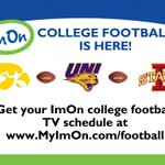 Go to https://t.co/726NOQ4qnq for the complete TV schedule of the Iowa Hawkeyes, Iowa State Cyclones, & UNI Panthers https://t.co/77b9btCcLg
