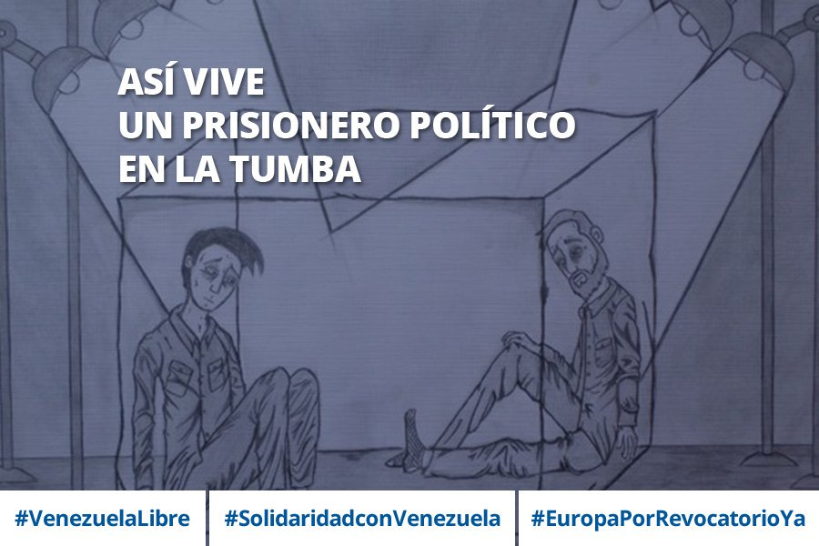 24 horas al día en una celda de 3x2 sin luz ni aire porque no hay ventana #VenezuelaLibre #EuropaPorRevocatorioYa https://t.co/mCNvfp6tTf