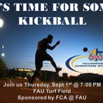 FCA at FAU is back & we are starting things off with a Kickball game tomorrow at 7 on the Turf Field!! #FAUFCA https://t.co/QFuuBvuOhO