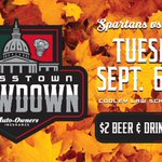 Sept. 6th is the Crosstown Showdown between Lansing Lugnuts & MSU Spartans!! #LoveLansing #GoNuts #GoGreen https://t.co/UyKGd0uqy6