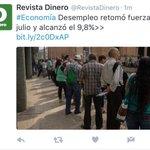 En el mes de julio la tasa de desempleo fue de 9,8 %. Sube el desempleo, a Santos nada le importa. https://t.co/e2hPAOZ48V