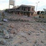 الكلية الحربية بعد تدميرها بخمسة عشر غارة جوية من التحالف صباح اليوم؛ طبعاً مباني الكلية وخيولها شاركوا في الانقلاب https://t.co/7eubeBgUBP