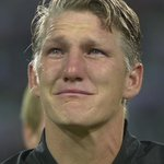 Bastian Schweinsteiger in tears as he makes his final appearance for Germany tonight. Emotional. 😢 https://t.co/wQgTtsgJ0E