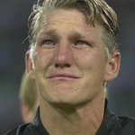 Bastian Schweinsteiger in floods of tears leading Germany out for the final time this evening. 🇩🇪😥 https://t.co/9hTM5clSxB