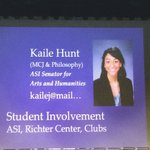 """@kailejay is so involved at @fresno_state, """"I wake up feeling like a #bulldog!"""" #CAHConvocation https://t.co/4QZqmhiS5x"""