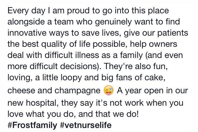 One year anniversary of FROST  @fitzpatrickref #frostiversary #vetnurselife #planetrvn #oncologynurse https://t.co/eKXRKKAtCL