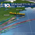 SPAGHETTI PLOTS Latest trends show #Hermine tracking farther west and inland impacting VA with rain on Saturday. https://t.co/FXDsxWWY2a
