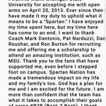 Thank u #SpartanNation so much. I will forever appreciate the love. MSU will always hold a special place in my heart https://t.co/8dJ4RaTl6M