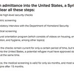 Heres currently what you have to clear to get in the U.S. from Syria https://t.co/Df4ZeC29Ce https://t.co/Bxl3UPBdIa
