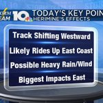 Here are some key points that have come out today with #Hermine. Keep tuned in over the next 24 hours. https://t.co/K82fGryst4