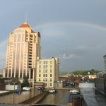 The calm after the storm in downtown #Rke (courtesy of @katelinfrosell) #swvawx https://t.co/cZWSBpIGPW