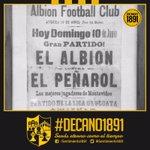 Así anunciaban el 1er partido oficial de PEÑAROL, ante Albion por la Liga Uruguaya. Año 1900. Inapelable #decano1891 https://t.co/mrA43DIenP